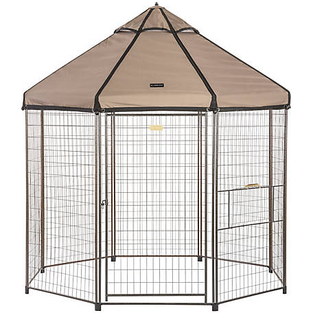Advantek Pet Gazebo with Earth Taupe Canopy, 8 ft., 23408