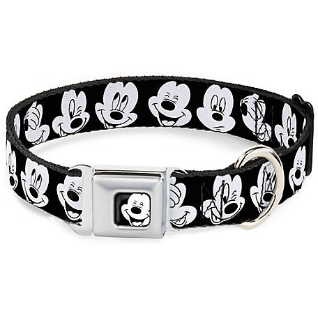 Buckle-Down Mickey Mouse Expressions Seat Belt Dog Collar, DC-WDY155
