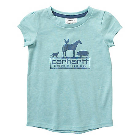 Carhartt Girls' Infant/Toddler Girl's Horse Tee Shirt, CA9760 A58H
