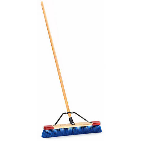 Harper 24 in. Best-in-Class Assembled Outdoor, Rough-Surface Push Broom with Steel Brace,197924A, 197924A