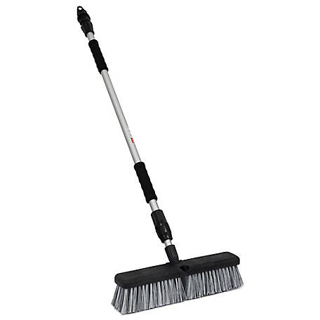 Harper 14 in. Wash Brush with Telescoping Flow-Through Handle, 198151A
