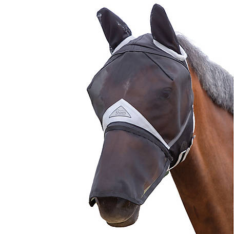 Shires Full Face Fly Mask Ears Detchblnose, 60001