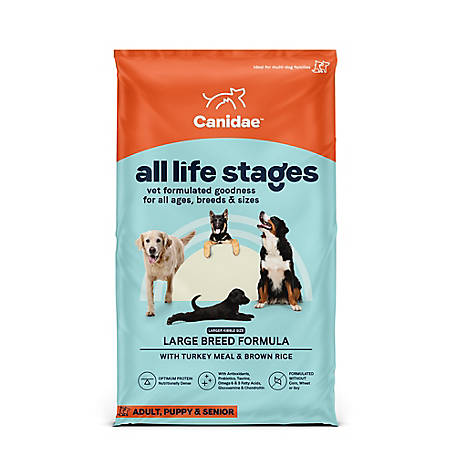 CANIDAE All Life Stages Large Breed Turkey & Rice Dog Food, 44 lb.