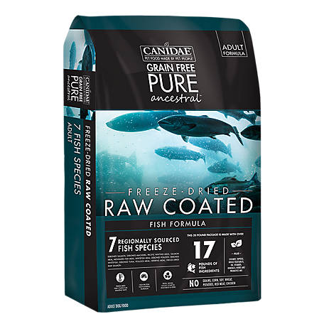 CANIDAE Grain Free PURE Ancestral Coated Fish Dog Food 20 lb.