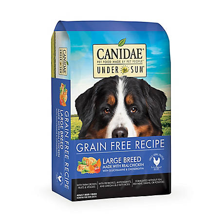 CANIDAE Under The Sun 82112 Grain-Free Chicken Recipe Large-Breed Adult Dry Dog Food, 25 lb.