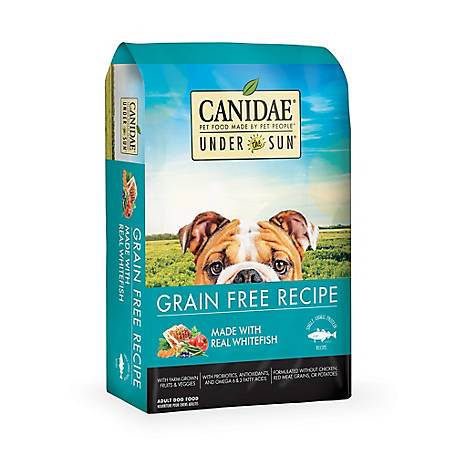 CANIDAE Under The Sun 82120 Grain-Free Whitefish Adult Dry Dog Food, 23 lb.
