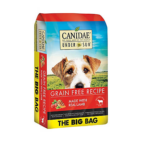 CANIDAE Under The Sun 82192 Grain-Free Lamb Recipe Adult Dry Dog Food, 40 lb.