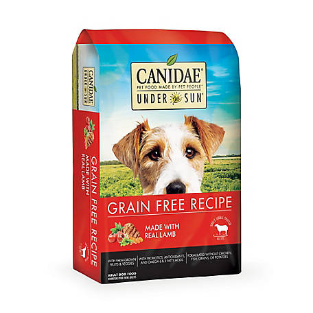 CANIDAE Under The Sun 82194 Grain-Free Lamb Recipe Adult Dry Dog Food, 23.5 lb.
