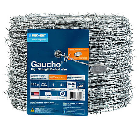 Bekaert Barbed Wire 4 pt. 15.5 ga. Gaucho, 1,000 ft., 632323