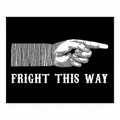 Designs Direct Fright This Way 8 x 10 Tabletop Canvas, 5684-D
