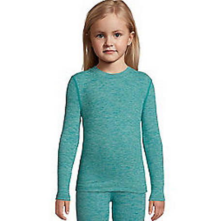 Hanes Girls' Space Dye Crew, 125705
