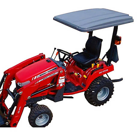 Eclipse Canopy Universal Tractor Canopy 45 in. x 50 in. Gray; Fits all major brand ROPS, 4550Y