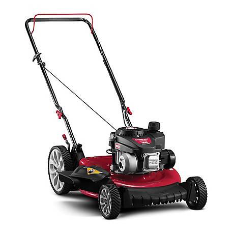 High Wheel Push Mower With Mulch