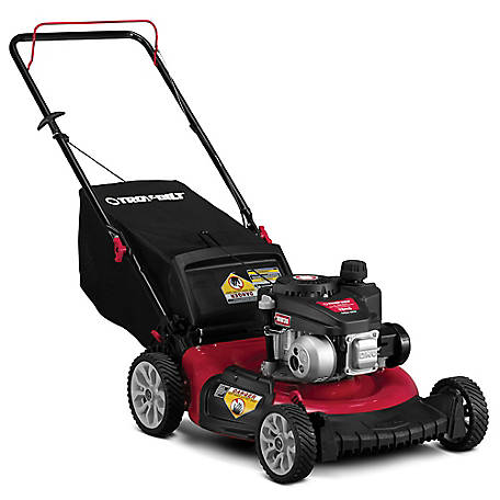 Troy-Bilt TB115 140CC, 21-in Push Mower with Rear Bag, Mulch and Side Discharge, 11A-A2SD766