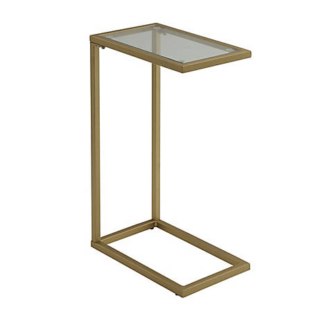 Carolina Chair & Table Callie Glass Top Accessory Table, Gold, CF1610GLD