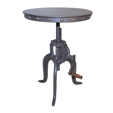 Carolina Chair & Table Portland Adjustable Crank Accessory Table, Industrial, CF3931RT-IND