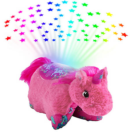 Pillow Pets Colorful Pink Unicorn Sleeptime Lite, 02508001B