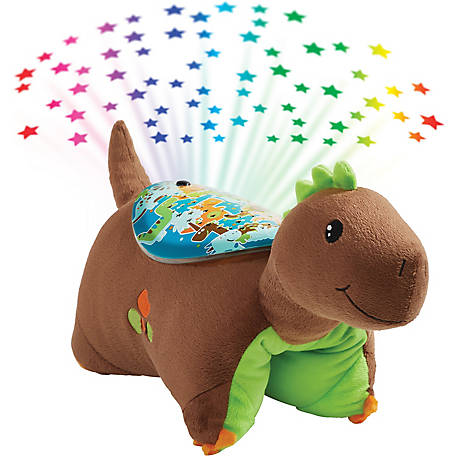 Pillow Pets Brown Dinosaur Sleeptime Lite, 02510015H