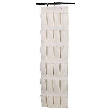 Household Essentials Canvas 24 Pocket Over-the-Door Organizer, 311382
