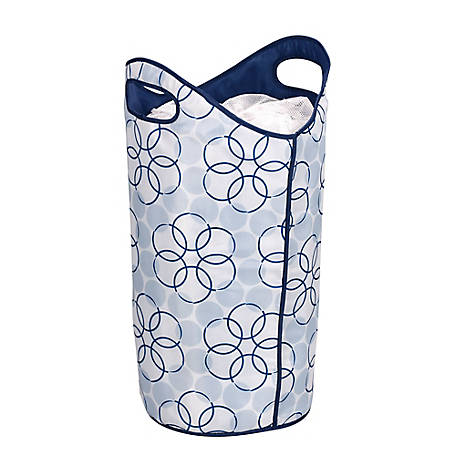 Household Essentials Softside Hamper Blue Magic Rings, 2500