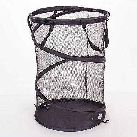 Household Essentials Pop Up Laundry Hamper Mesh Band Black, 2026