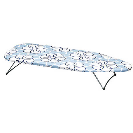 Household Essentials Tabletop Ironing Board Stainless Top, 122101