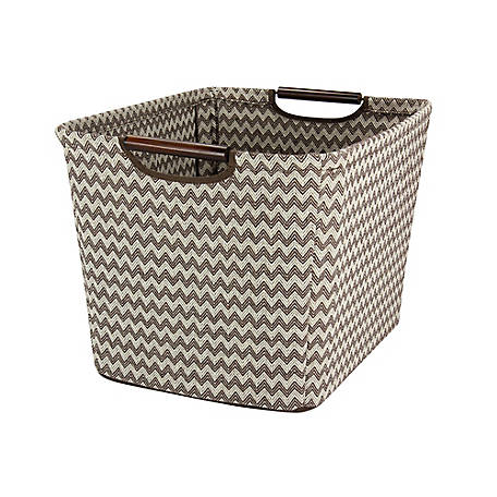 Household Essentials Medium Tapered Storage Bin Wood Handles, 661-1