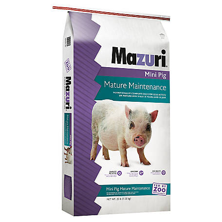 Mazuri Mini Pig Mature Maintenance, 25 lb., 3005274-203