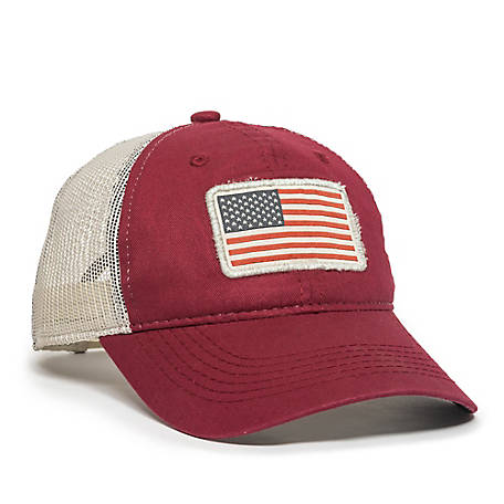 Outdoor Cap Americana Flag Patch Cap, Red, TS227605