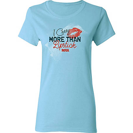 NRA Women's Short Sleeve 'I Carry More Than Lipstick, A2668-01
