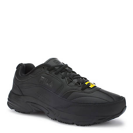Fila Men's Memory Workshift Slip Resistant Steel Toe Shoe, 1SG30201-001