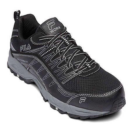 Fila Men's Memory At Peak Steel Toe Shoe, 1SH40240-010
