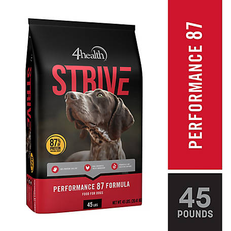 4health Strive Performance 87 Formula Dog Food, 45 lb. Bag