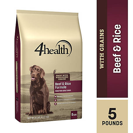 4health Original Beef & Rice Formula Adult Dog Food, 5 lb. Bag
