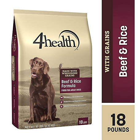 4health Original Beef & Rice Formula Adult Dog Food, 18 lb. Bag