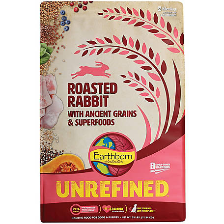 Earthborn Holistic Ancient Grains and Superfoods, Roasted Rabit, 1710481, 25 lb.