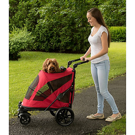 Pet Gear Inc. Excursion No-Zip Pet Stroller, PG8650NZCR