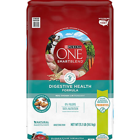 Purina ONE Probiotics, Natural Dry Dog Food; Smartblend Digestive Health Formula - 31.1 lb. Bag