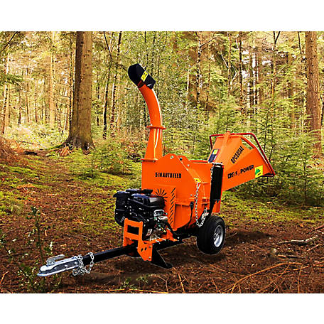 DK2 Power 5 in. 14HP Auto Feed Chipper with Electric Start KOHLER Command PRO commercial gas engine CH440, OPC505AE