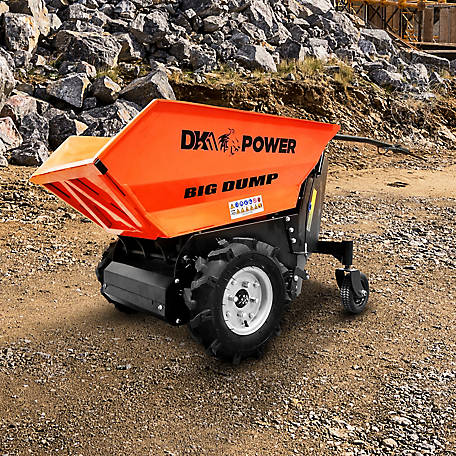 DK2 Power 1,100 lb. Electric Hydraulic Dump Cart with All Terrain Tires, OPD811