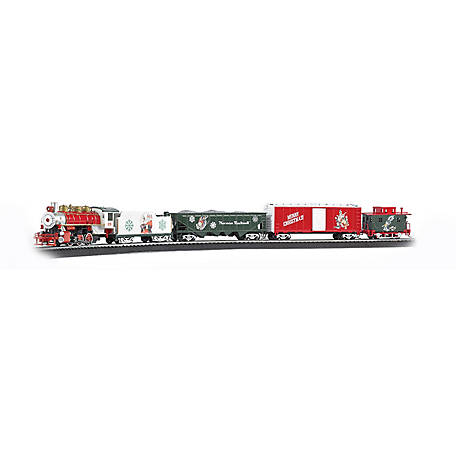 Bachmann Trains Bachmann Trains HO Scale A Norman Rockwell Christmas Train Ready To Run Electric Train Set, 741