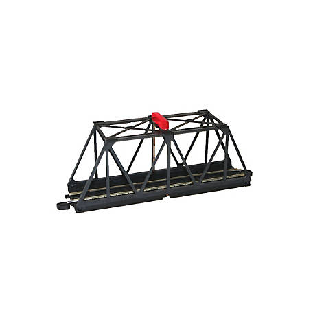 Bachmann Trains HO Scale E-Z Track Truss Bridge with Blinking Light Train Track Accessory, 44473