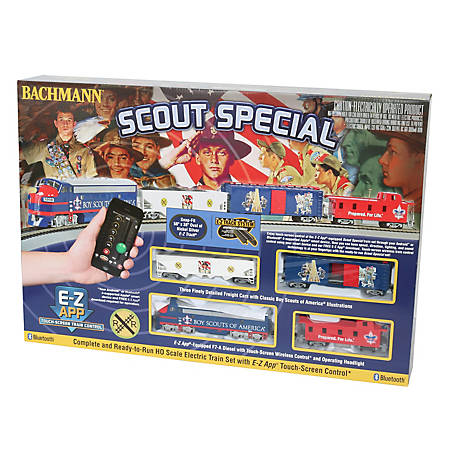 Bachmann Trains HO Scale Scout Special Boy Scouts of America E-Z App Smart Phone Controled Electric Train Set, 1503