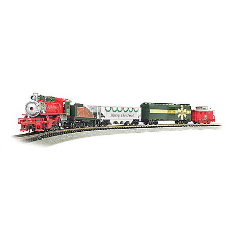 Bachmann Trains Bachmann Trains N Scale Merry Christmas Express Ready to Run Electric Train Set, 24027