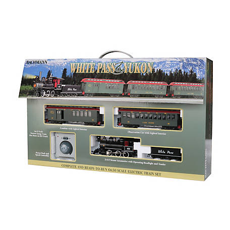 Bachmann Trains On30 Scale White Pass & Yukon Passenger Set Ready to Run Electric Train Set, 25024