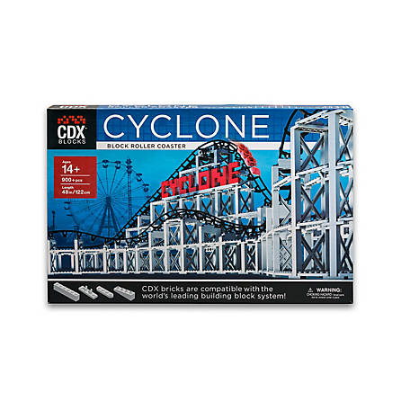 CDX Blocks Brick Construction Cyclone Roller Coaster Building Set, CDX-CYC1