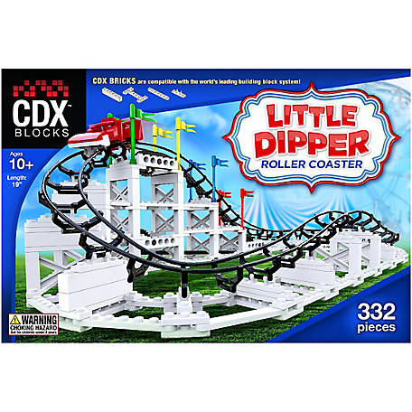 CDX Blocks Brick Construction Little Dipper Roller Coaster Building Set, CDX-LD01