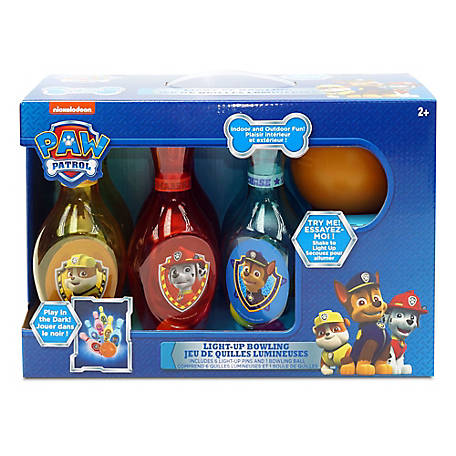 What Kids Want Paw Patrol Light Up Bowling Set - Indoor/Outdoor, 29908