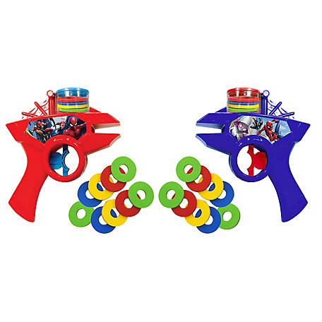 What Kids Want Marvel Spider-Man 2 Pack Kids Toy Foam Disc Shooters, 31205SPD