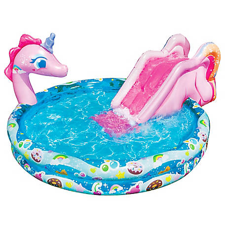 Banzai Spray 'N Splash 60 in. Unicorn Pool, 13648FR